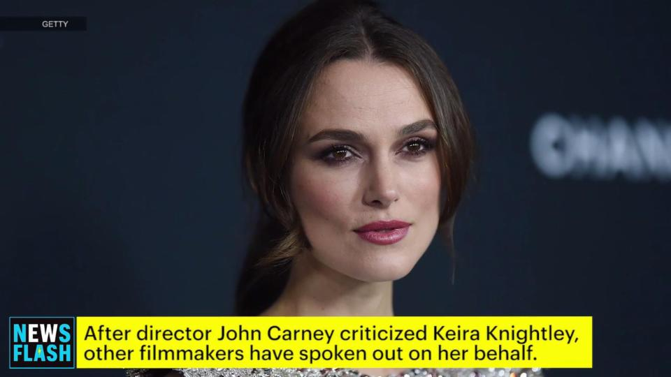 Keira Knightley Defended by Other Directors Following John Carney Criticism