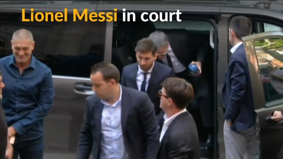 Lionel Messi appears in court for tax fraud trial