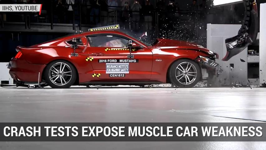 IIHS Crash-tests Expose American Muscle Cars' Weaknesses | Autoblog Minute