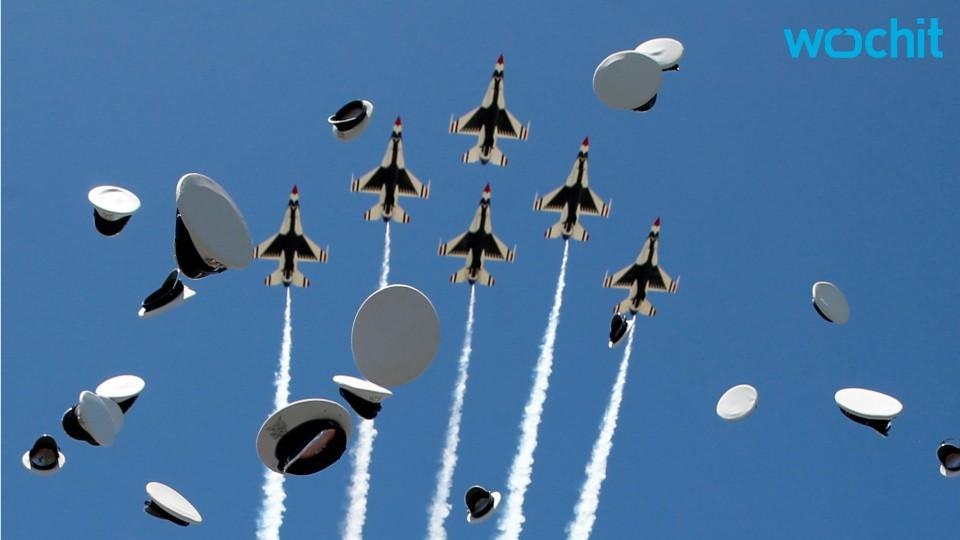 Air Force Jet Crashes After Flyover At Academy Commencement