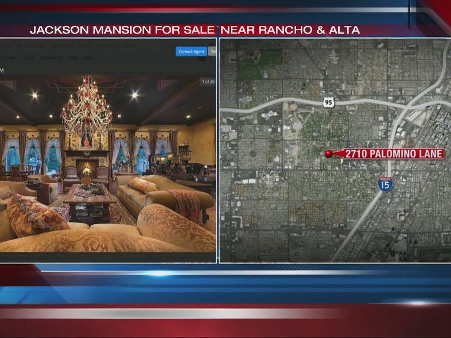 Vegas mansion rented by Michael Jackson is up for sale