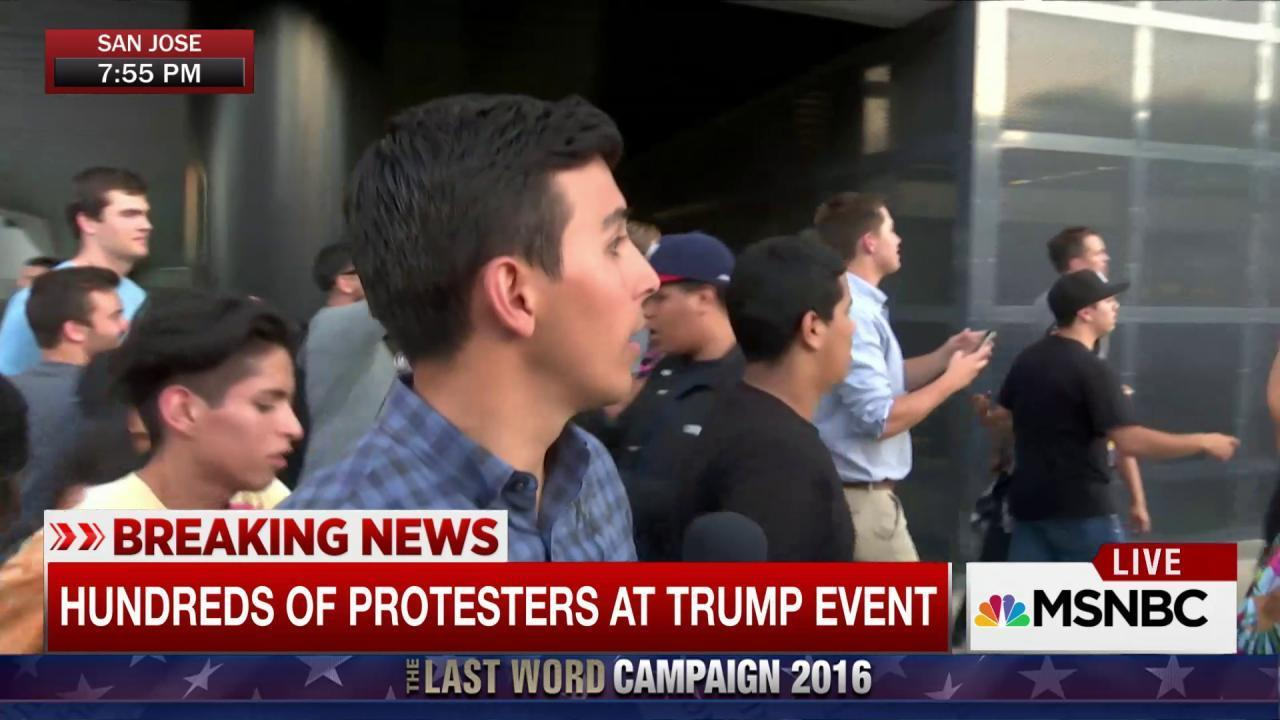Trump supporters attacked after rally