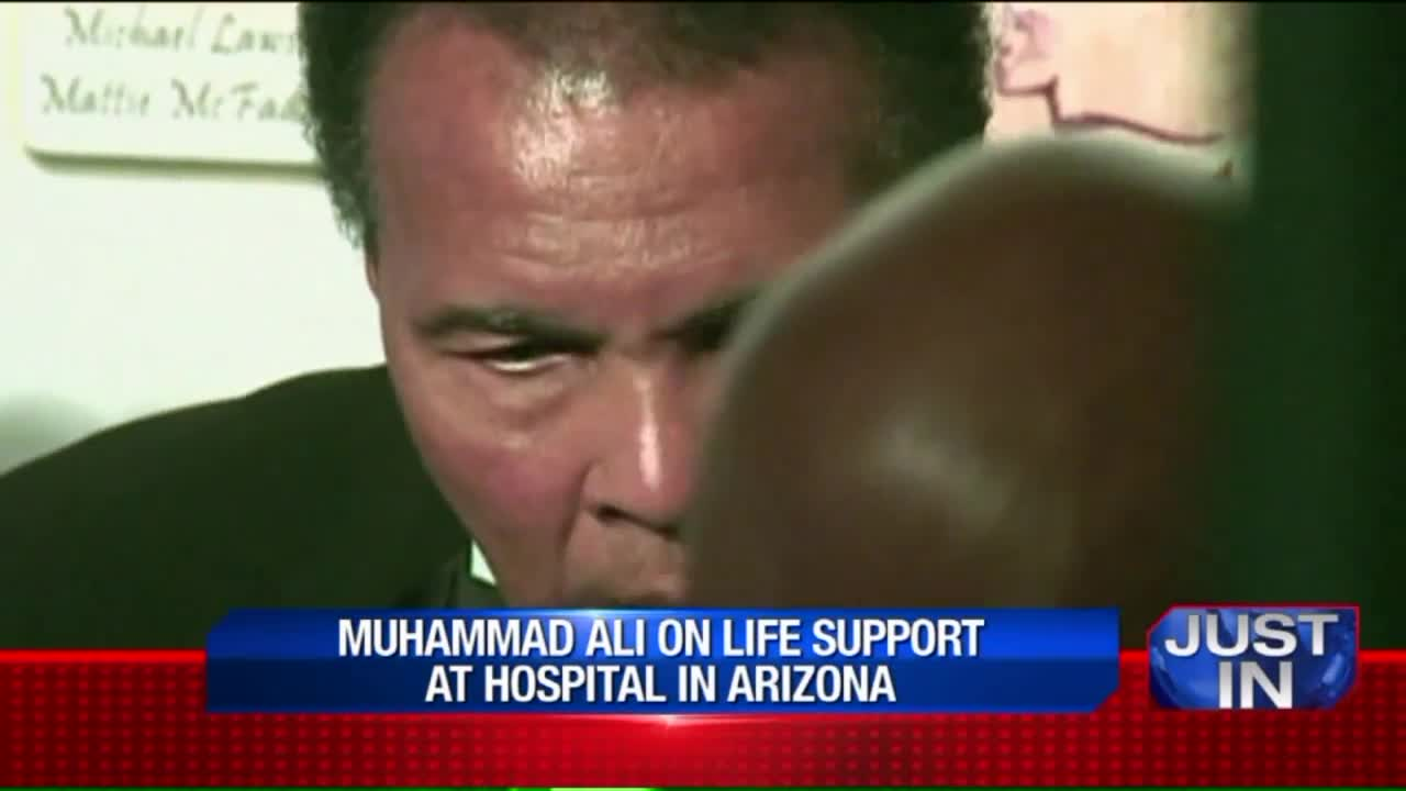 Muhammad Ali Reportedly on Life Support