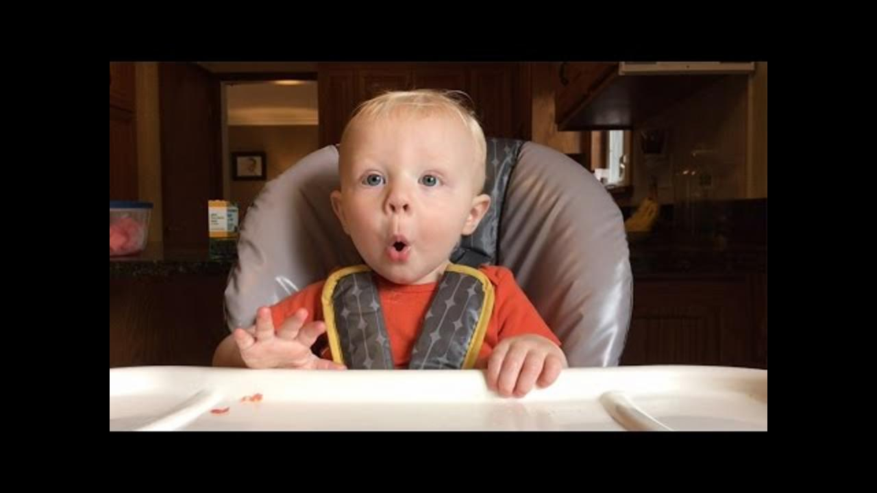 Cute Baby Gets Ridiculously Excited About Food