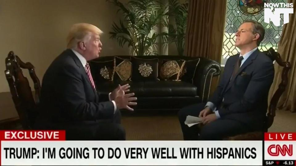 Jake Tapper Presses Trump On His Racist Comments
