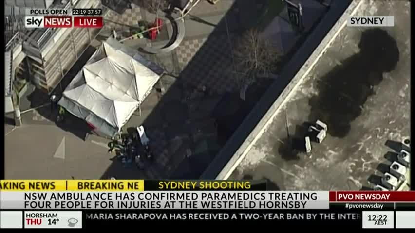 SkyNews Report Four People Shot At Hornsby Shopping Centre In Sydney