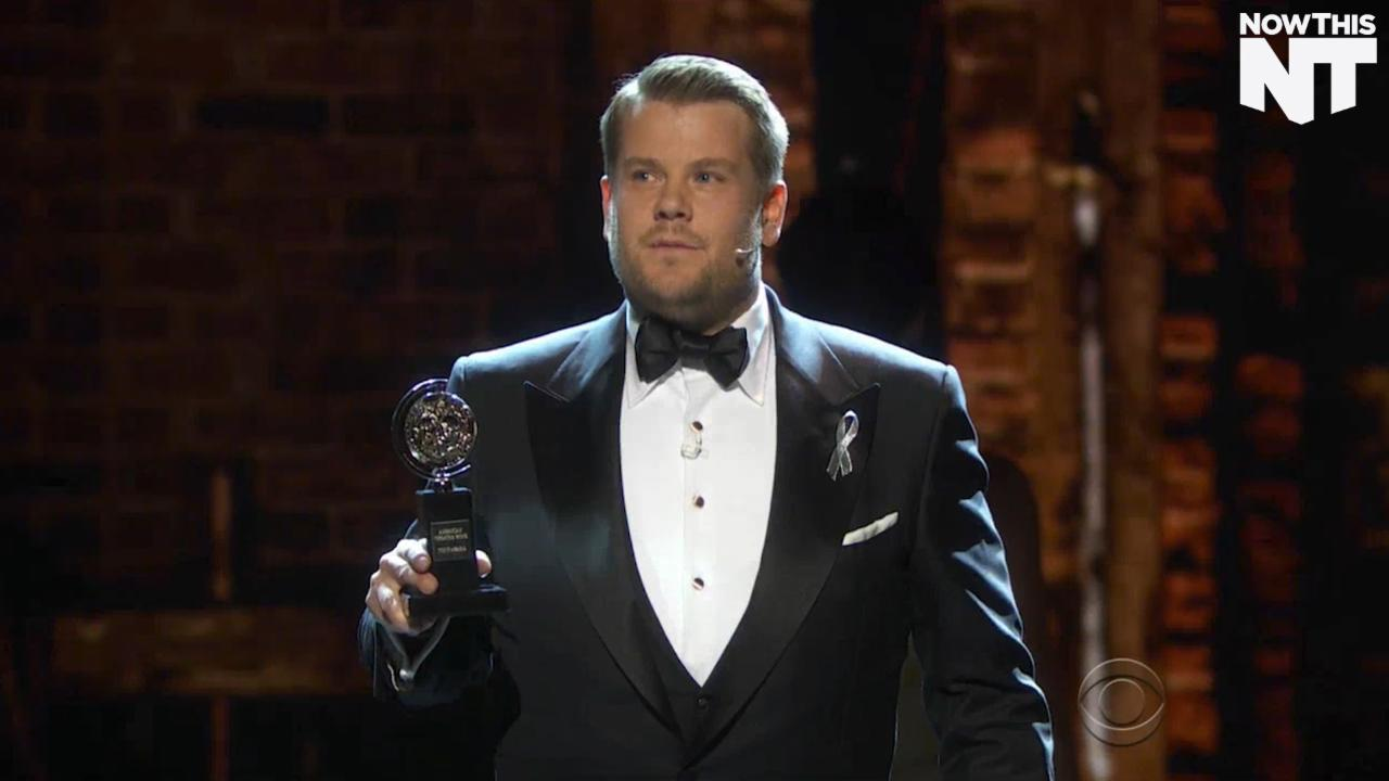 James Corden Was All About Diversity At The Tonys
