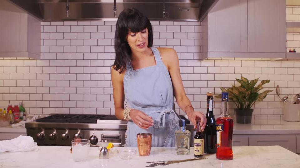Summer Cocktails with EyeSwoon's Athena Calderone: Aperol Grapefruit Spritz with Lavender