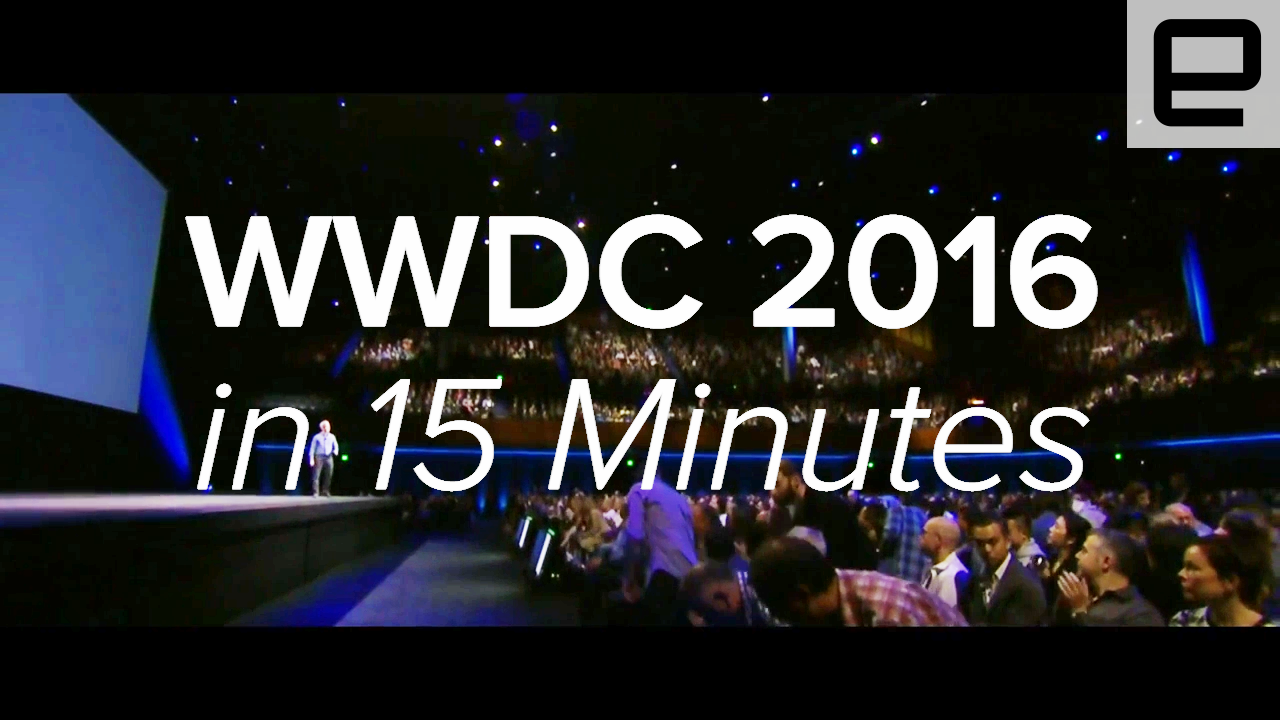 Watch Apple's WWDC 2016 keynote in 15 minutes