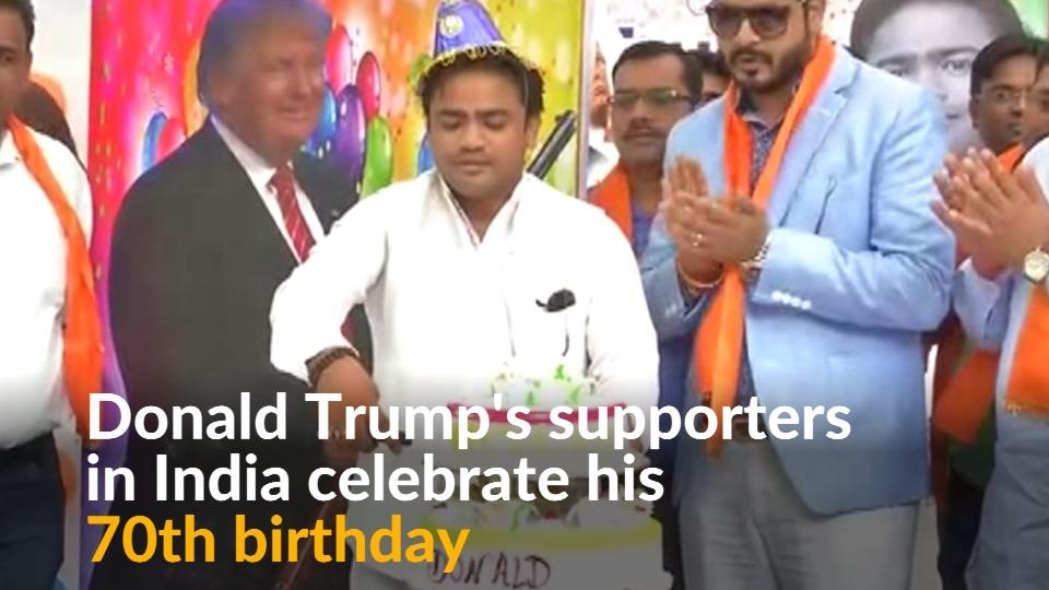 Indian Right Wing Group Celebrates Donald Trump's Birthday