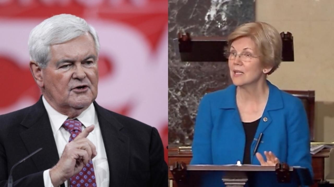 Voters Want Elizabeth Warren and Newt Gingrich for the 2016 Veepstakes