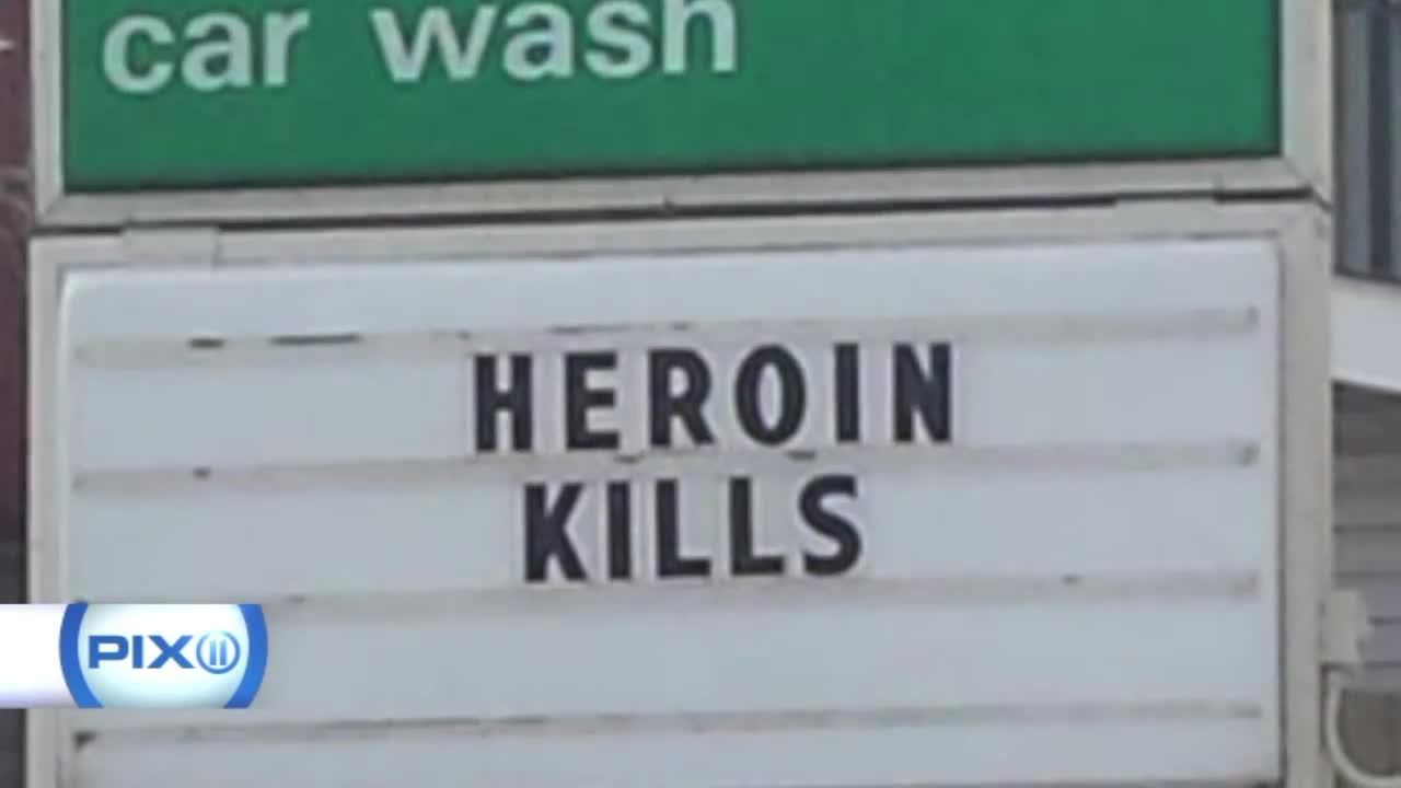 Gas Station Owner Uses Signs to Speak Out About Heroin Epidemic