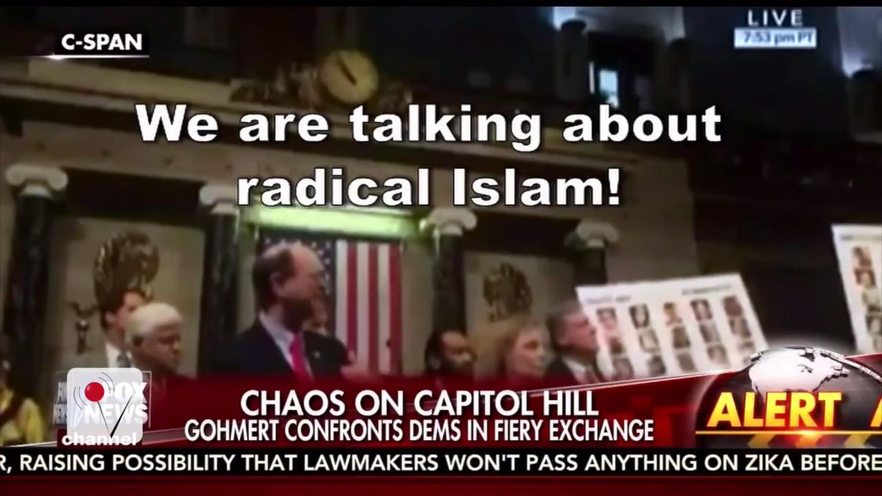 GOP Congressman Storms Democrats' Sit-In to Yell About 'Radical Islam'