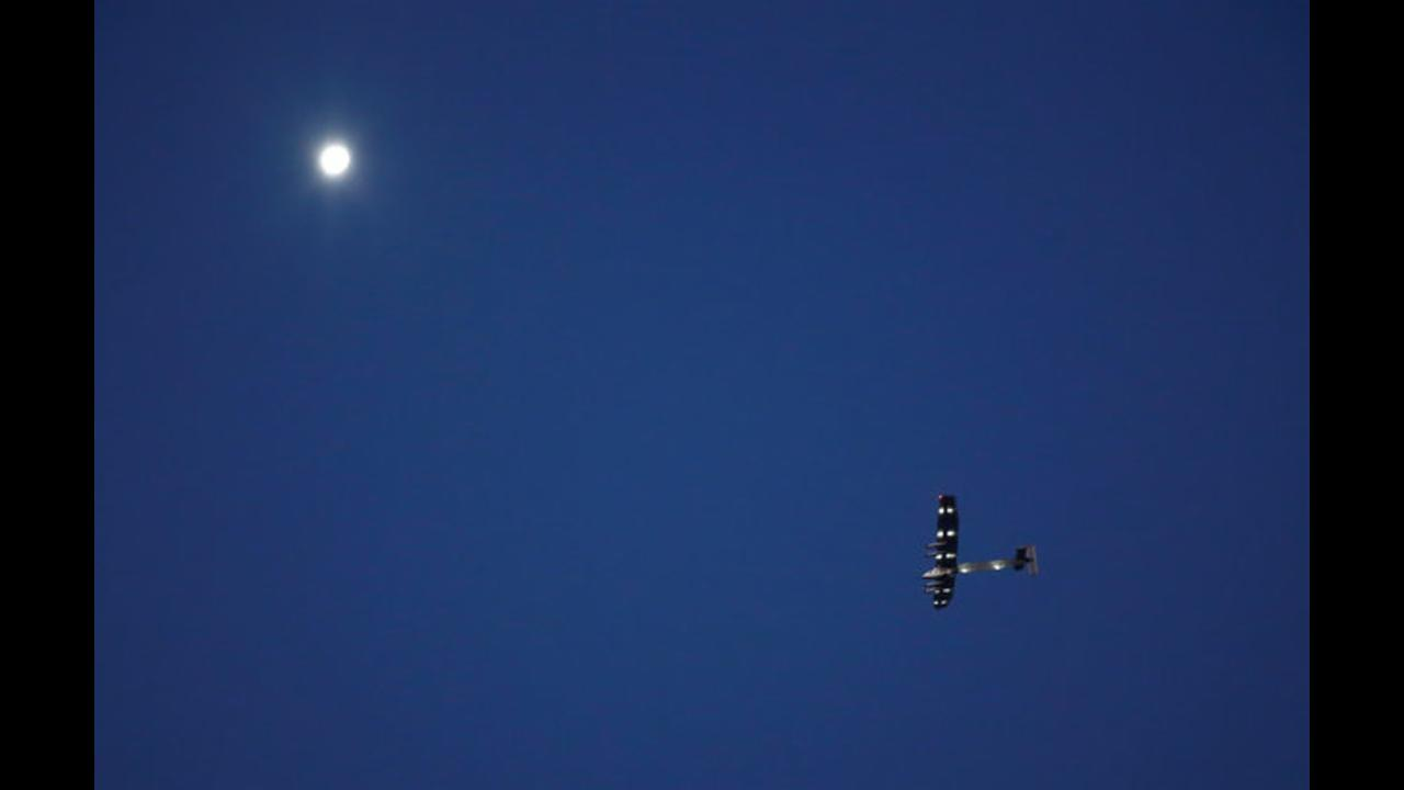 Solar Impulse 2 is the first solar plane to cross over the Atlantic Ocean.