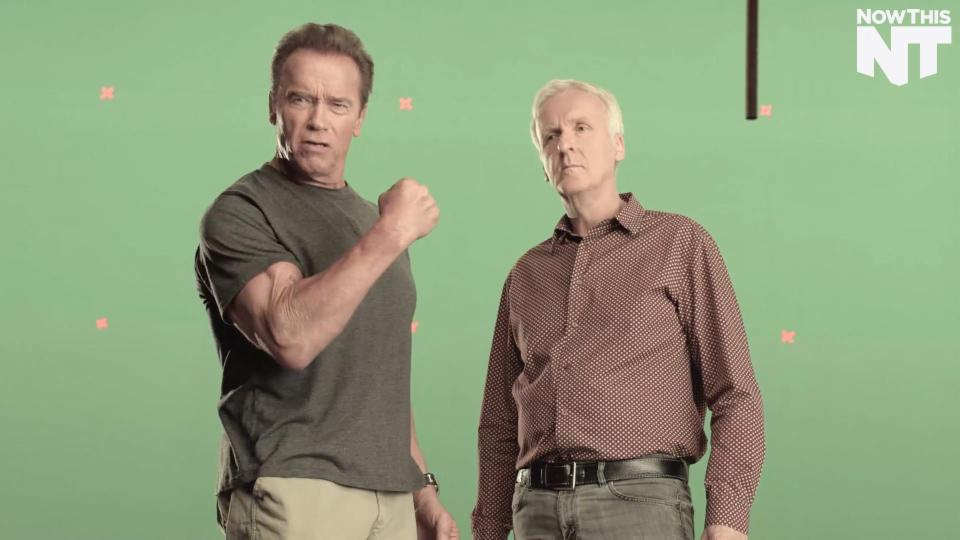 Arnold Schwarzenegger and James Cameron are Campaigning for Reduced Meat Consumption