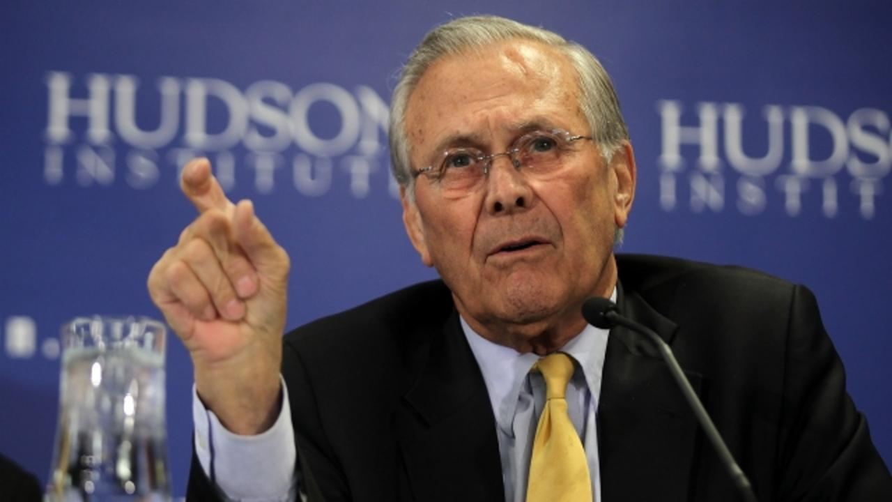Donald Rumsfeld Is Voting for the 'Known Unknown' — AKA Donald Trump