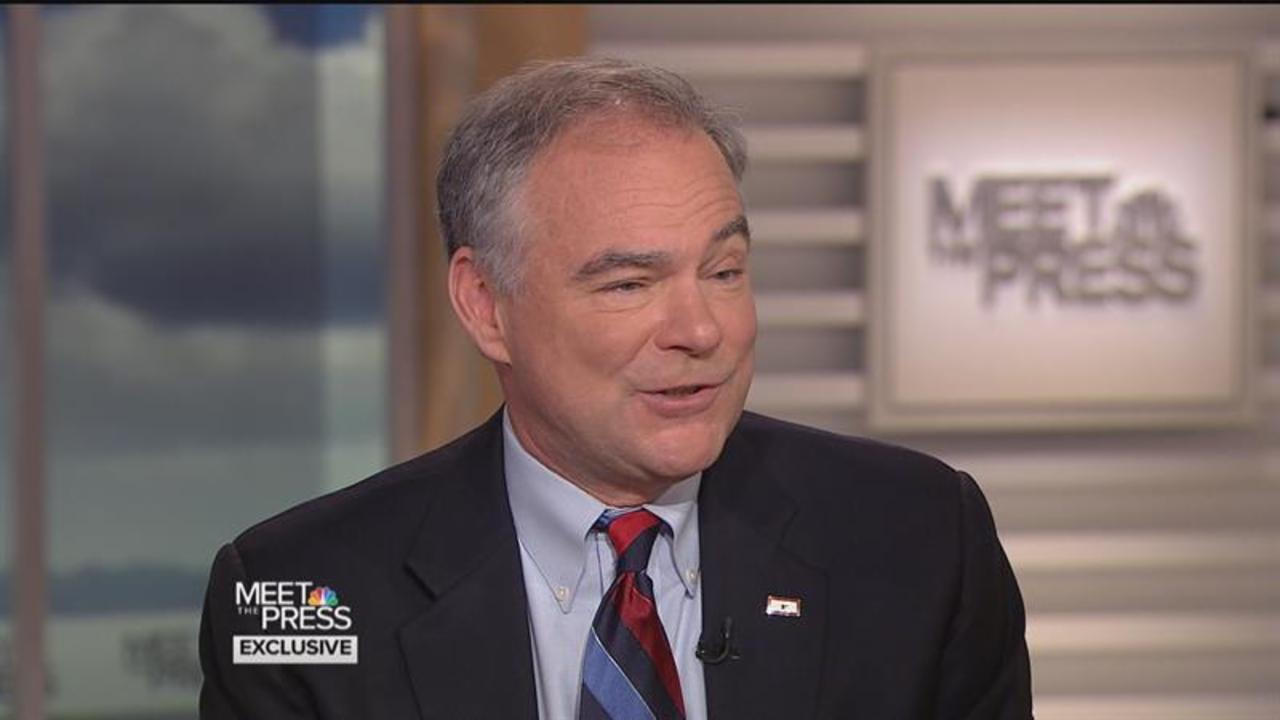 "Tim Kaine: ""Nobody Should Ever Say They're Ready"" to be President"