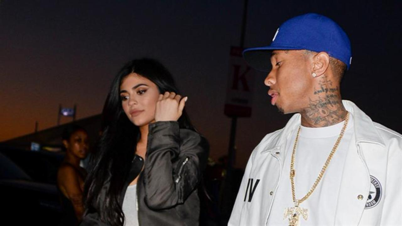 Kylie Jenner and Tyga Couple Up at Kanye's Event