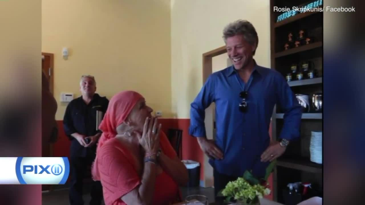 Bon Jovi Surprises Fan Battling Cancer at New Jersey Restaurant