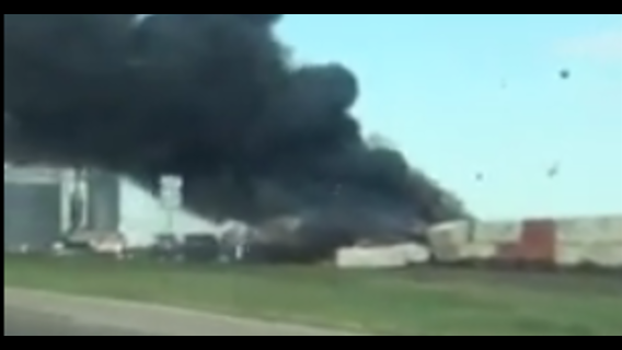 Two Trains Collide, Cause Fire in Texas