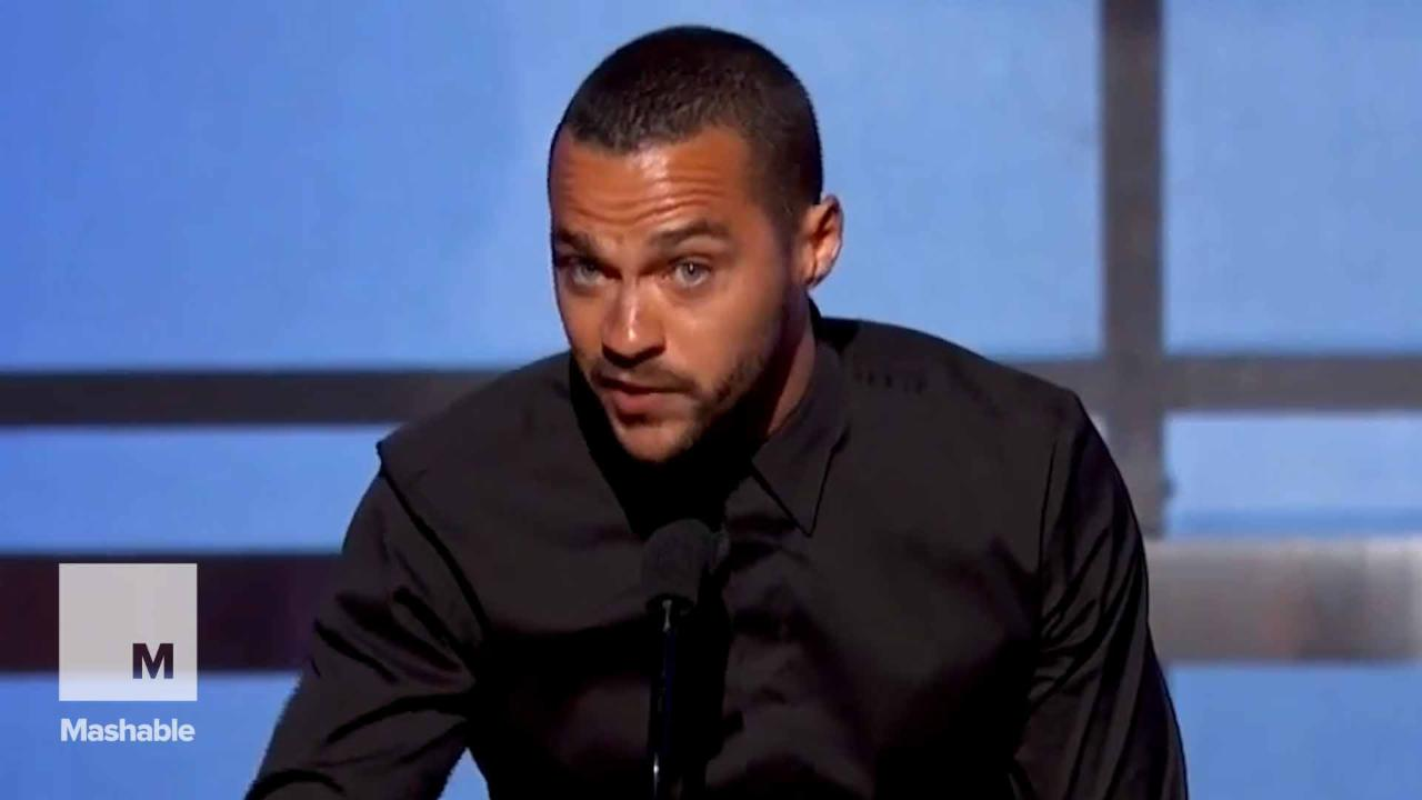 Jesse Williams gives a passionate speech about racism at the BET Awards