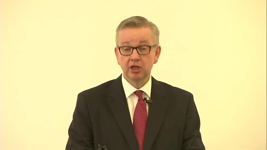 Michael Gove Launches Conservative Leadership Bid