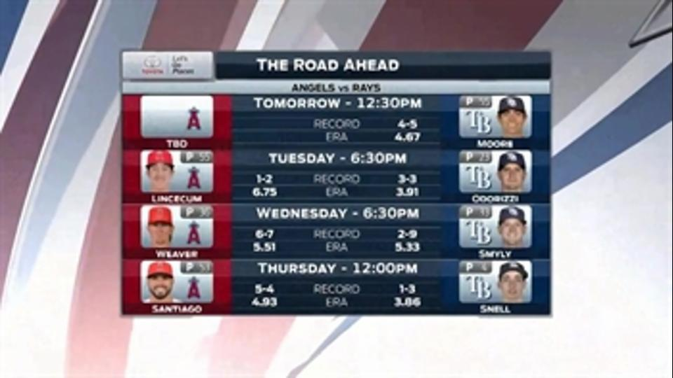Rays welcome Mike Trout, Angels to town for 4-game set
