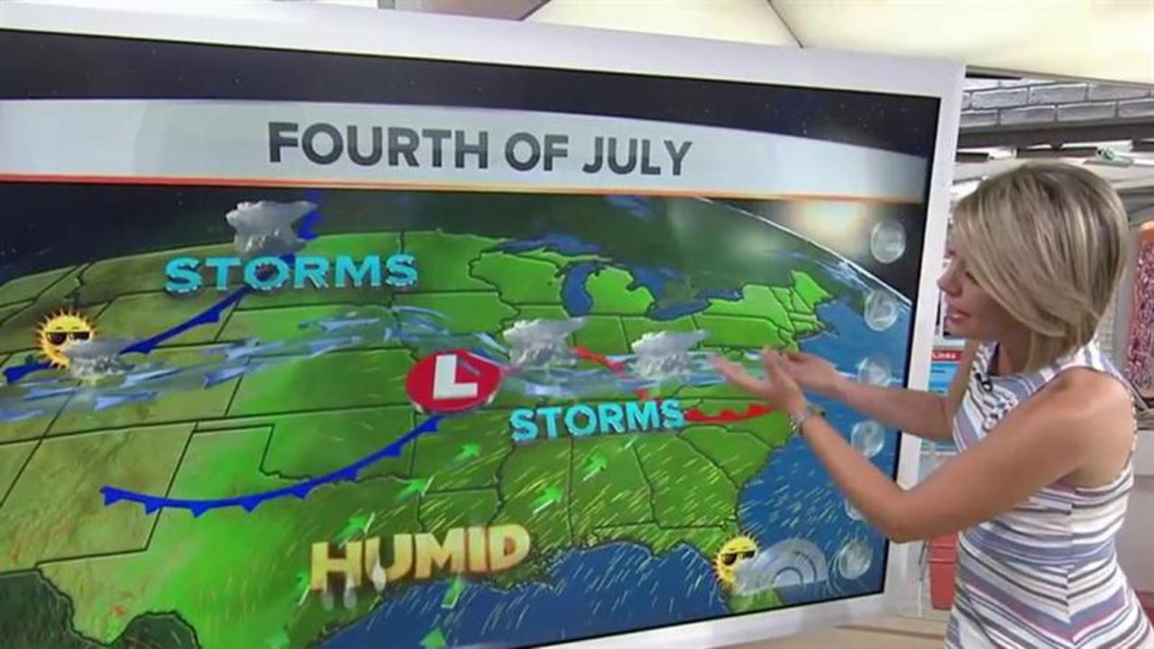 Heavy Rains, Flooding Dampen July 4th for Millions