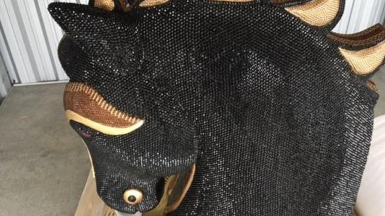 $10 Million Cocaine Shipment Found Inside Sparkly Horse Head Statue