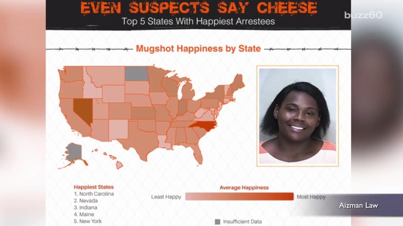 State Found with Happiest Mugshots