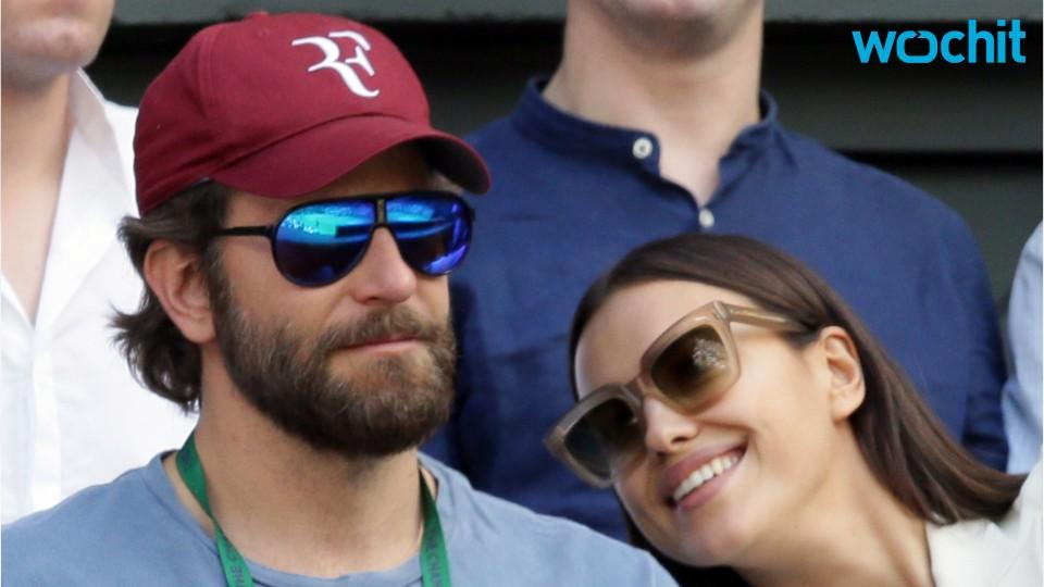 Wimbledon brought cuddles for Bradley Cooper and Irina Shayk