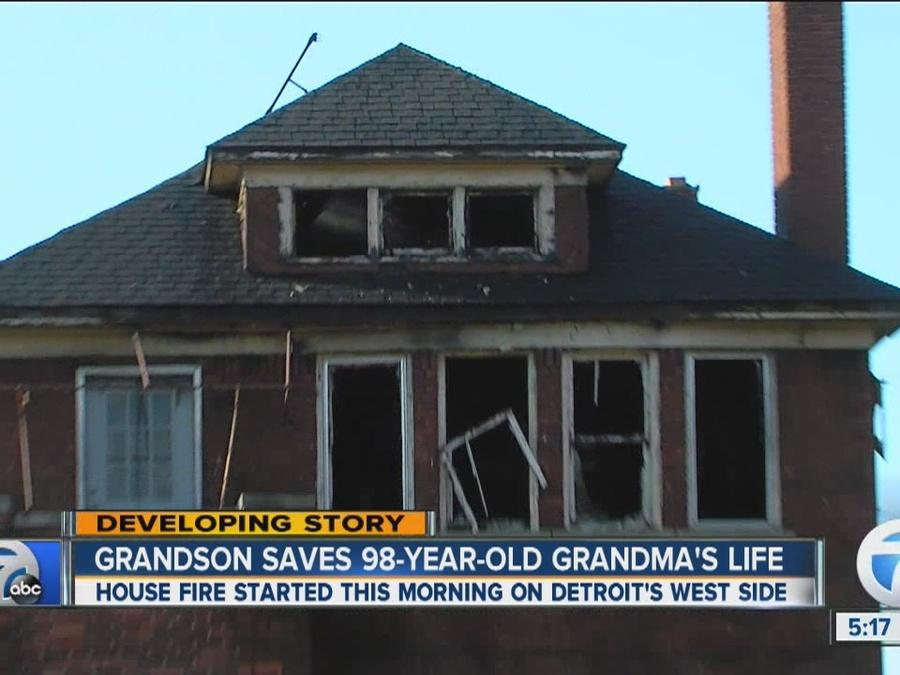 Grandson saves grandmother's life in fire