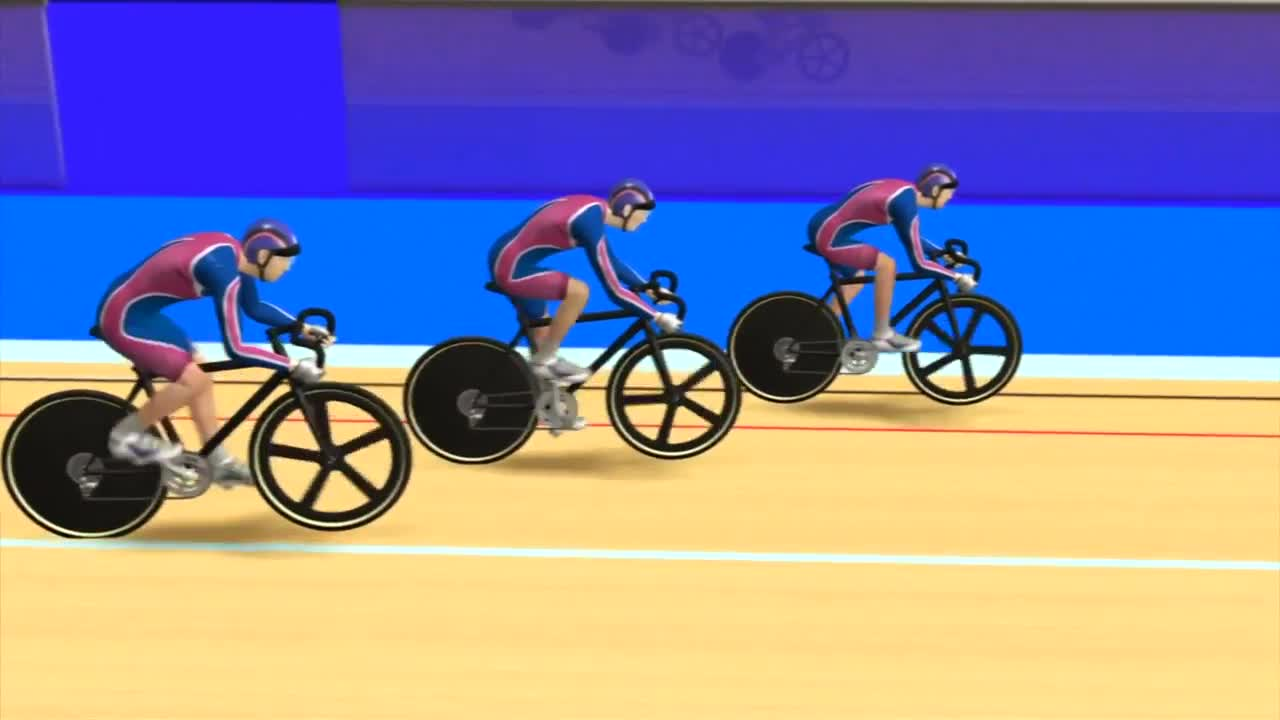 Olympics - Cycling track team sprint explained