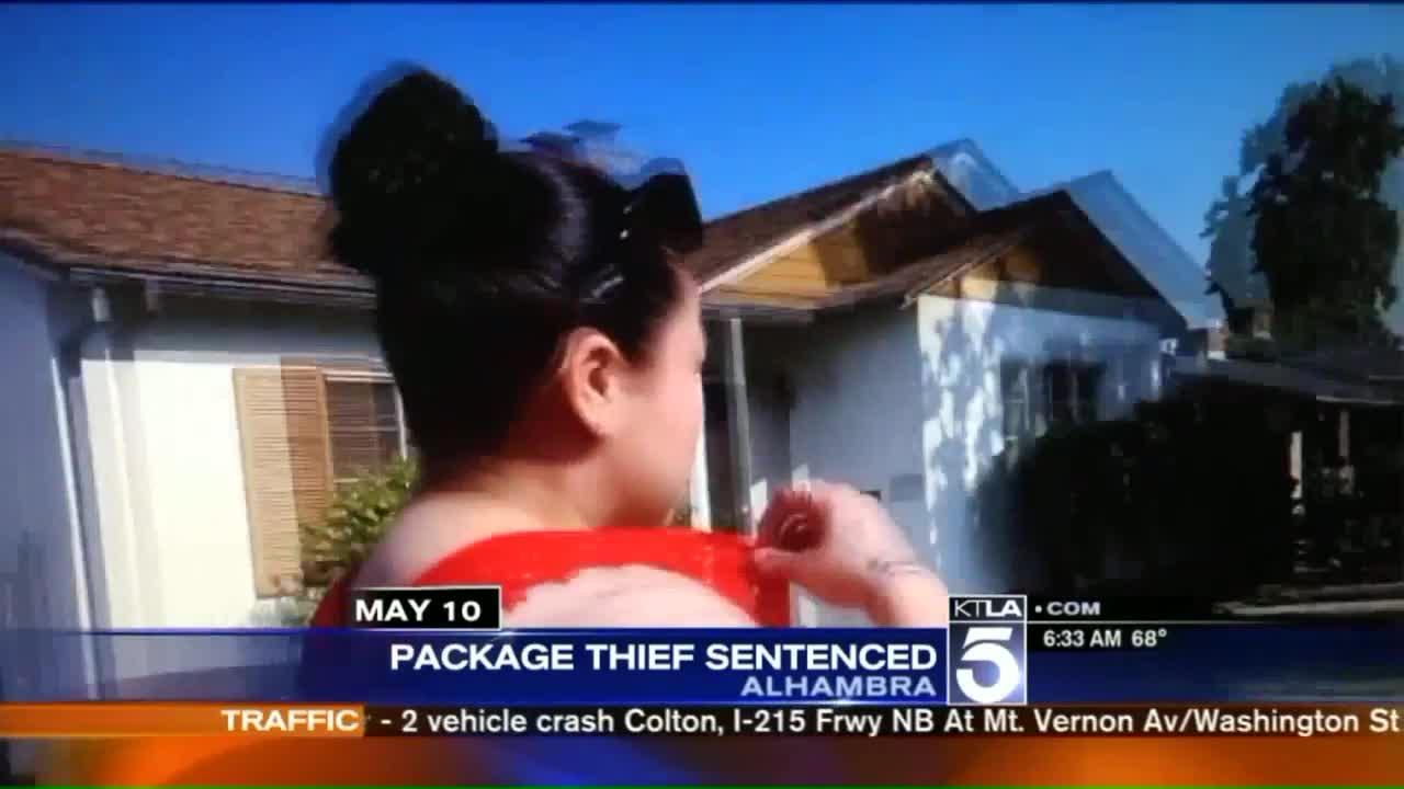Woman Confronted on Camera About Package Theft Sentenced