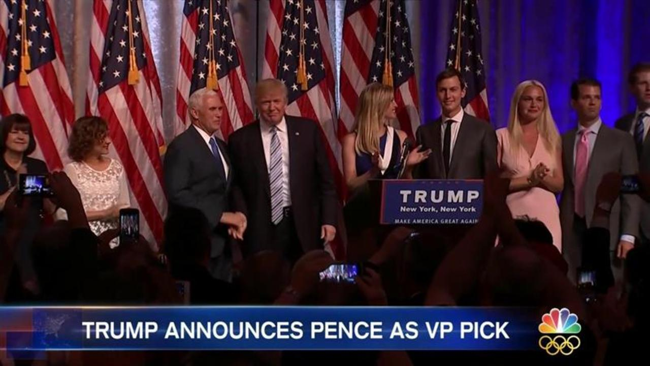 Donald Trump and Mike Pence Step Out Into the Spotlight For the First Time