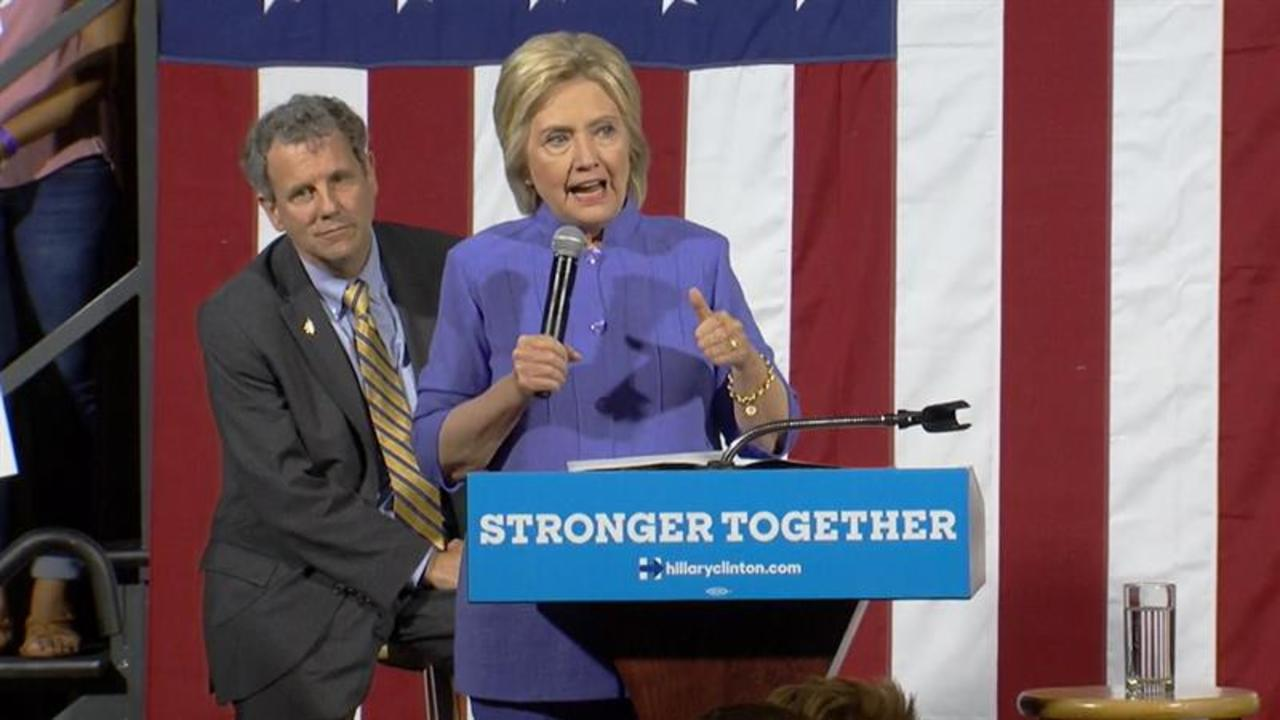 Hillary Clinton Campaigns with Sherrod Brown, Potential Running Mate