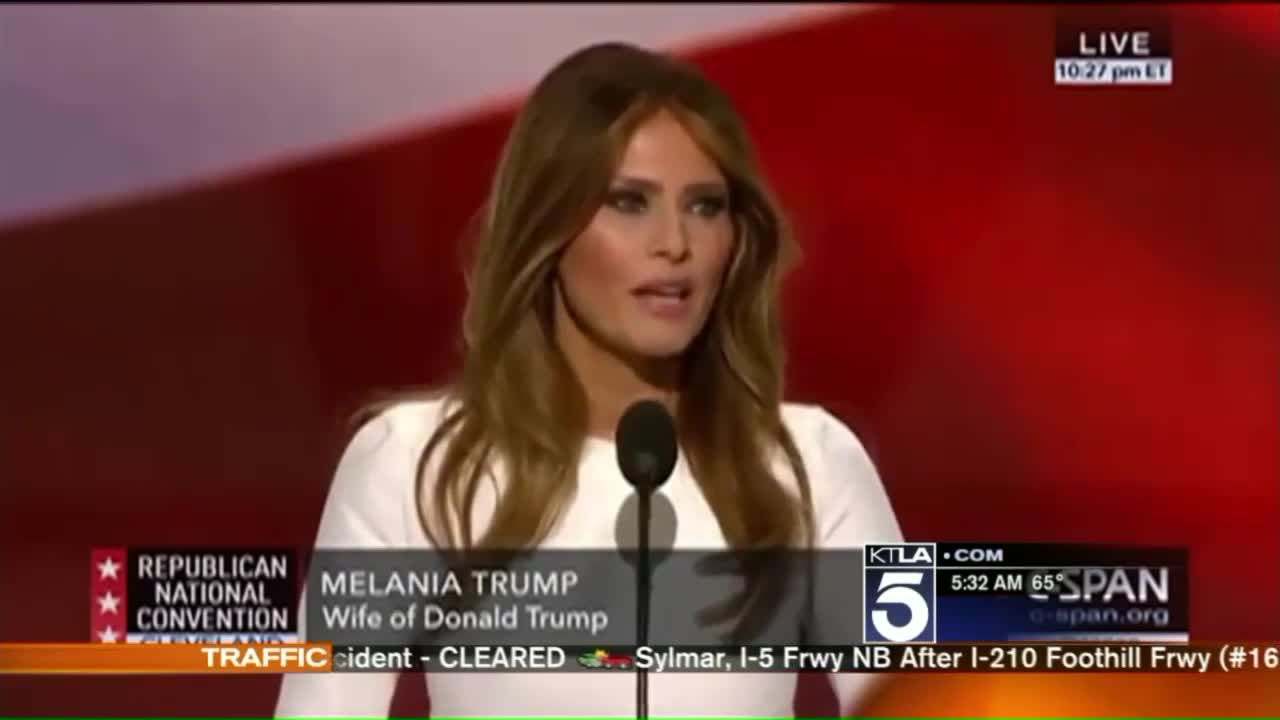 Trump Campaign Denies Melania Plagiarized Parts of Michelle Obama's Speech
