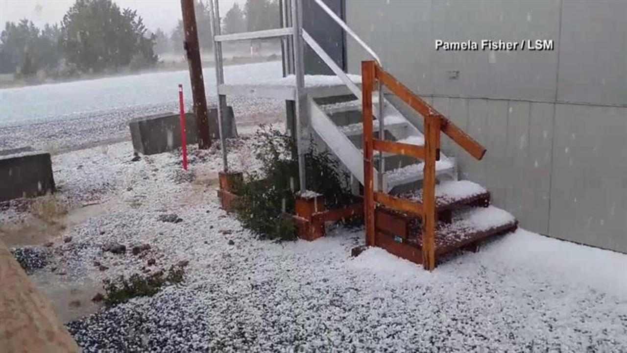 Hail Storm Pelts Parts of Oregon