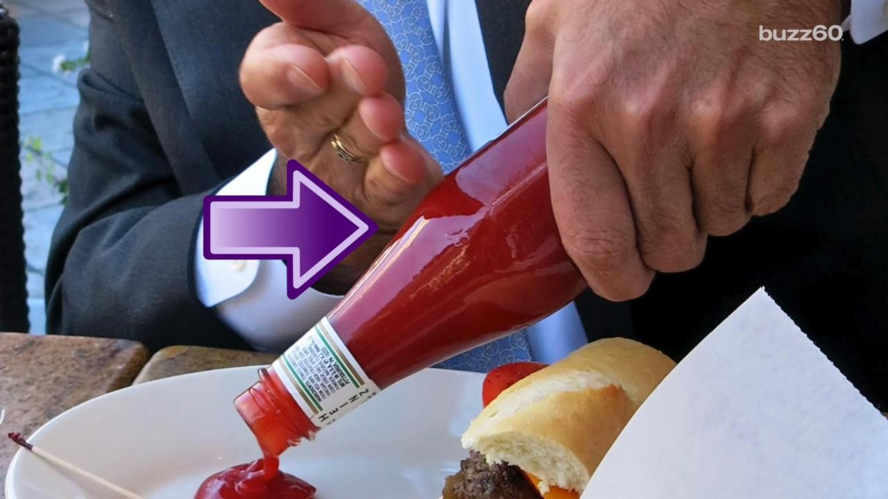 Use This Trick to get the Last Bit of Ketchup Out of the Bottle