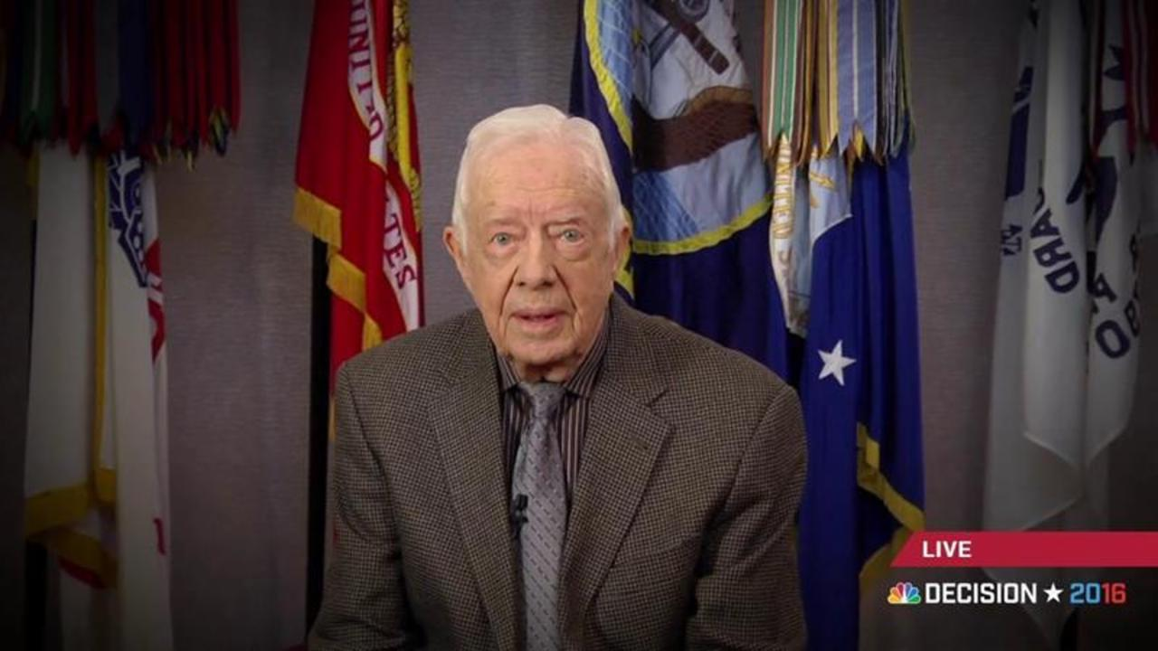 Jimmy Carter Endorses Hillary Clinton