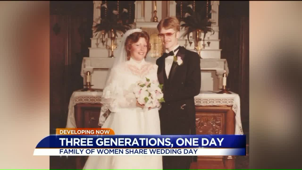 Family to Celebrate Three Generations of Weddings on the Same Day