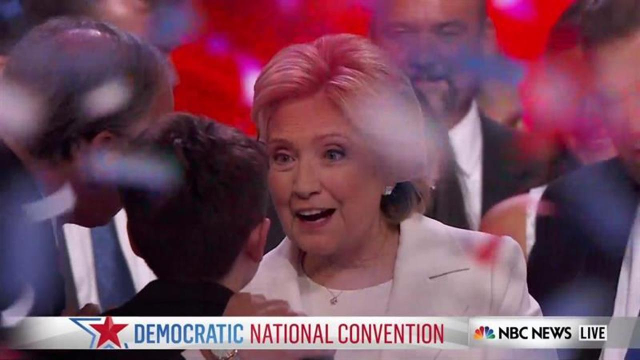 Clinton's Speech Well Received on Convention Floor