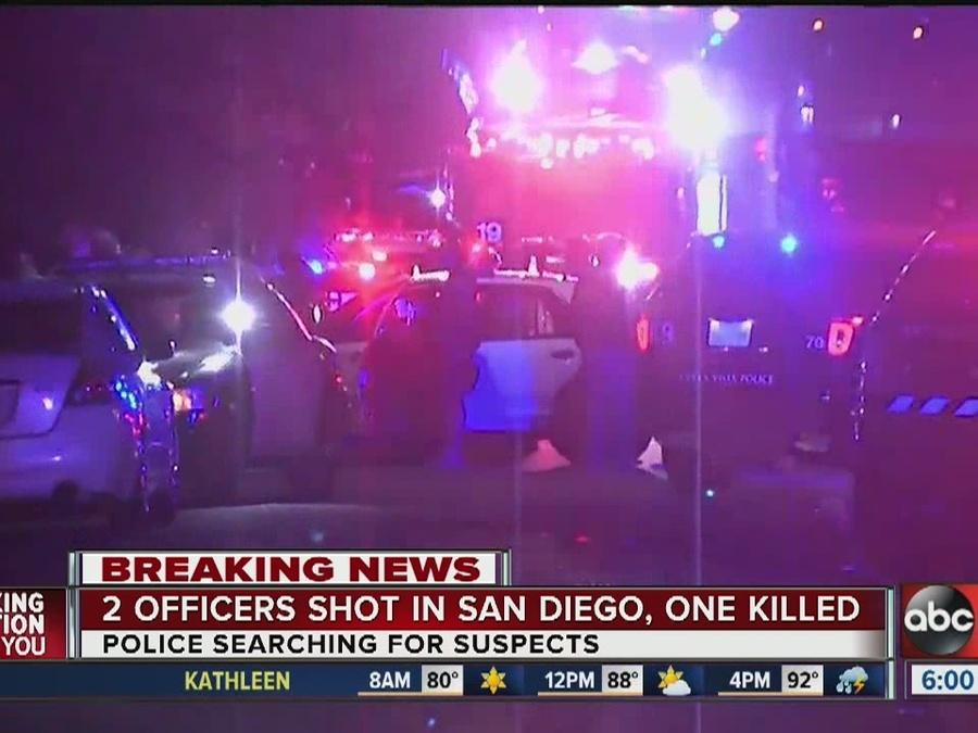 One San Diego police officer dead, another in surgery following shooting