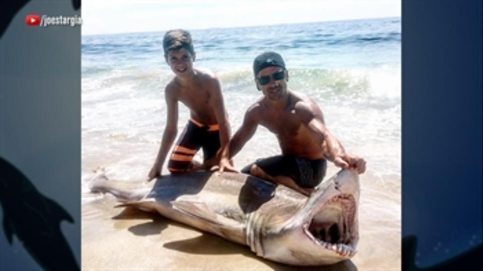 A 13-year-old kid catches a shark