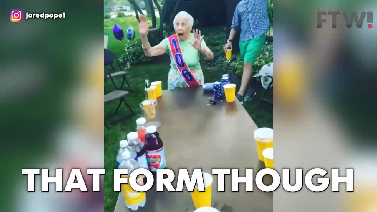 This 100-year-old grandma is better at beer pong than you