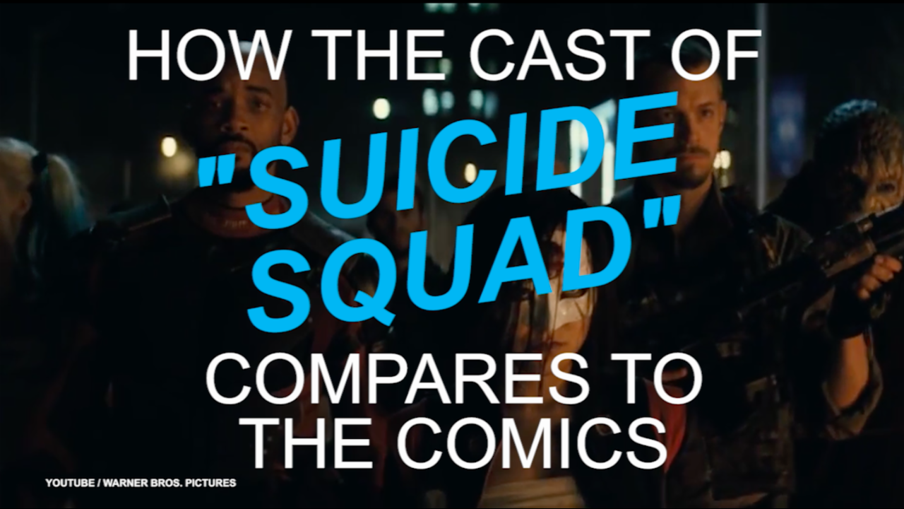 How the cast of 'Suicide Squad' compares to the comics