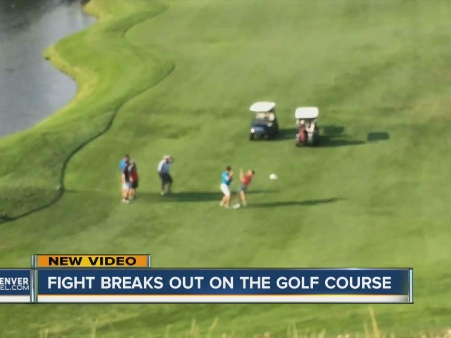 Golden golf fight caught on camera