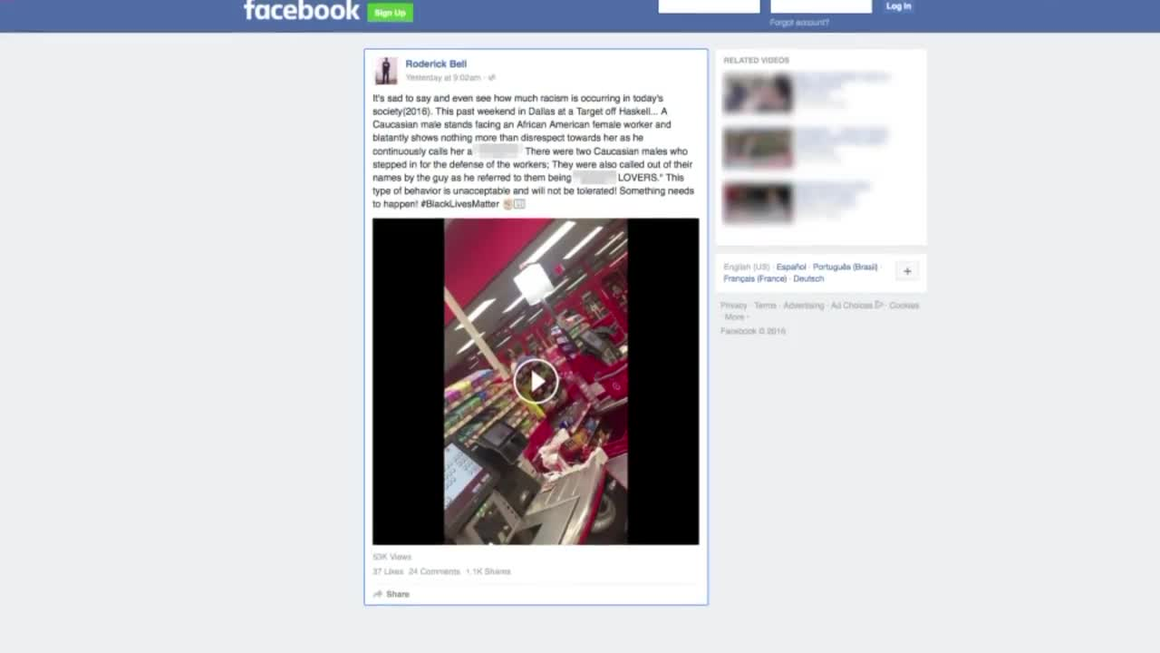 Man Goes Off on Racist Rant at Texas Target Store