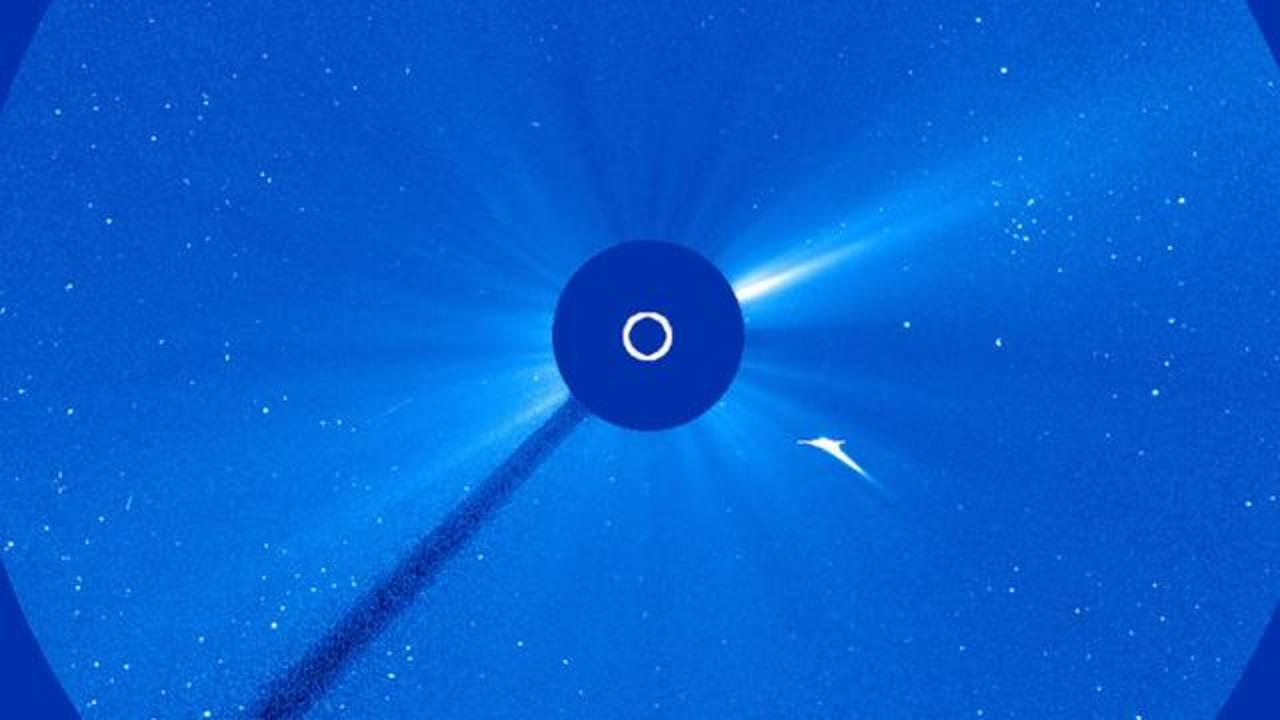 A Spacecraft Just Spotted A Comet's Final Moments As It Crashed Into The Sun