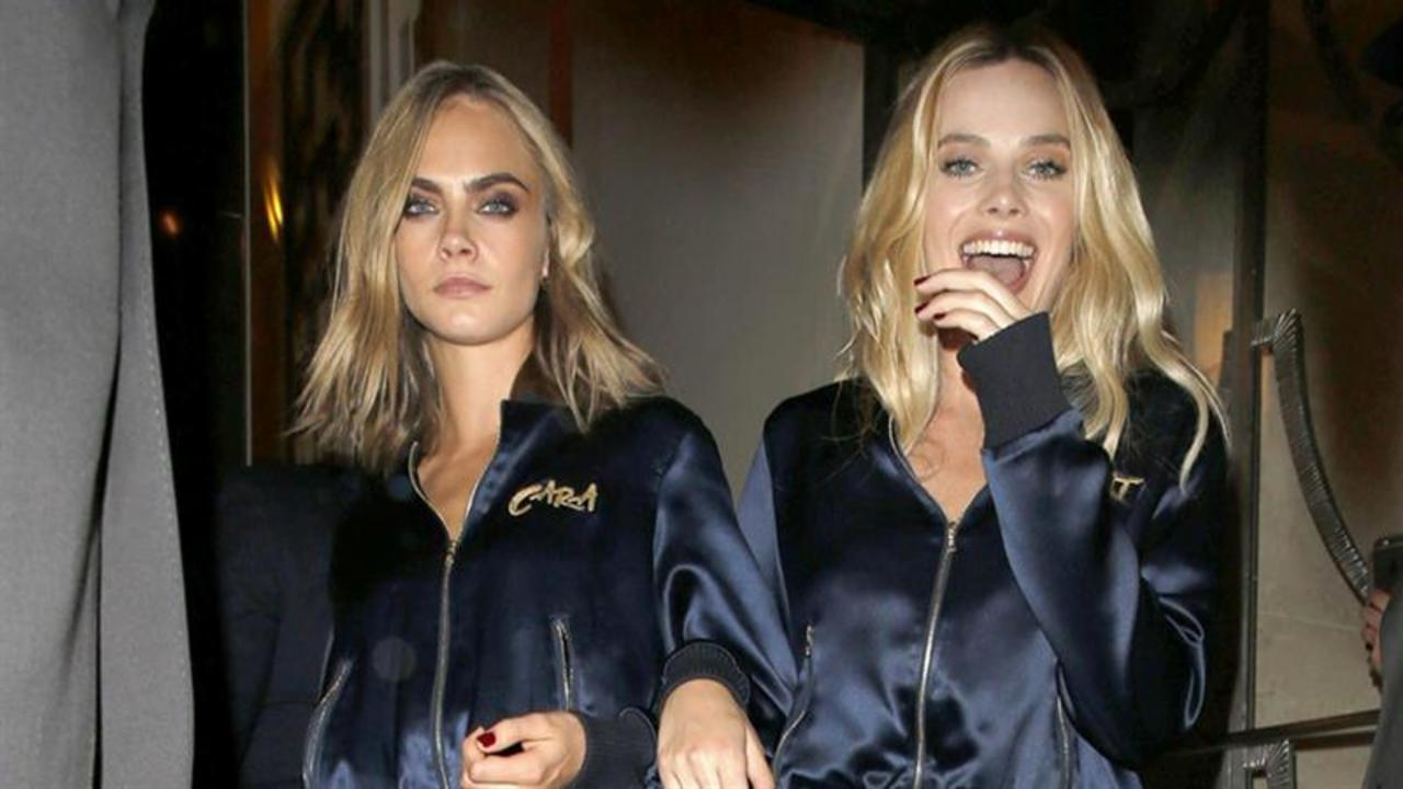 Cara Delevingne and Margot Robbie Wear Matching Tracksuits